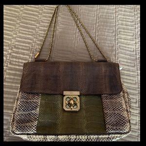Chloe Snakeskin Handbag